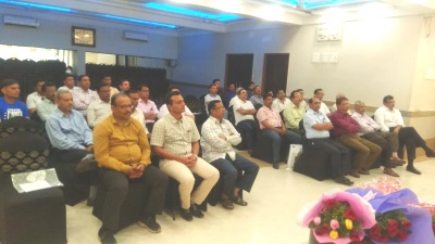 The audience at CREDAI Jalgaon meeting